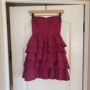 Rebecca Taylor Size 0 Purple Strapless Dress